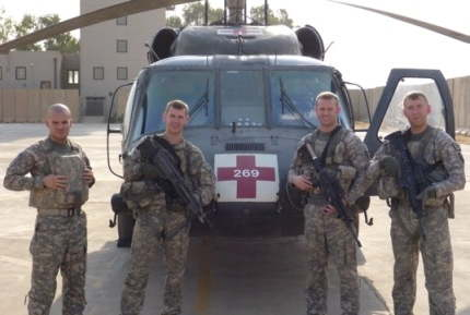 Sergeant Nathan Nebelsick (2nd from left), w/ his crew